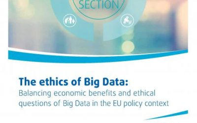 "L'Unione Europea pubblica lo studio di Evodevo ""Ethics and Big Data"""