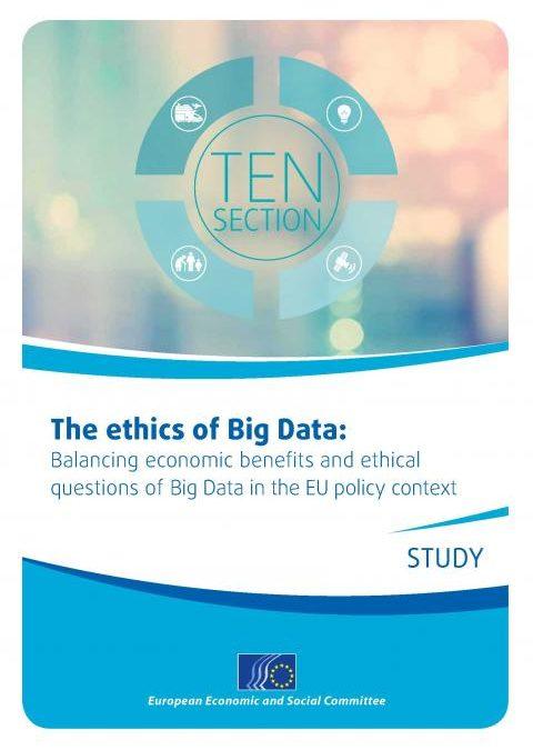 """L'Unione Europea pubblica lo studio di Evodevo """"Ethics and Big Data"""""""